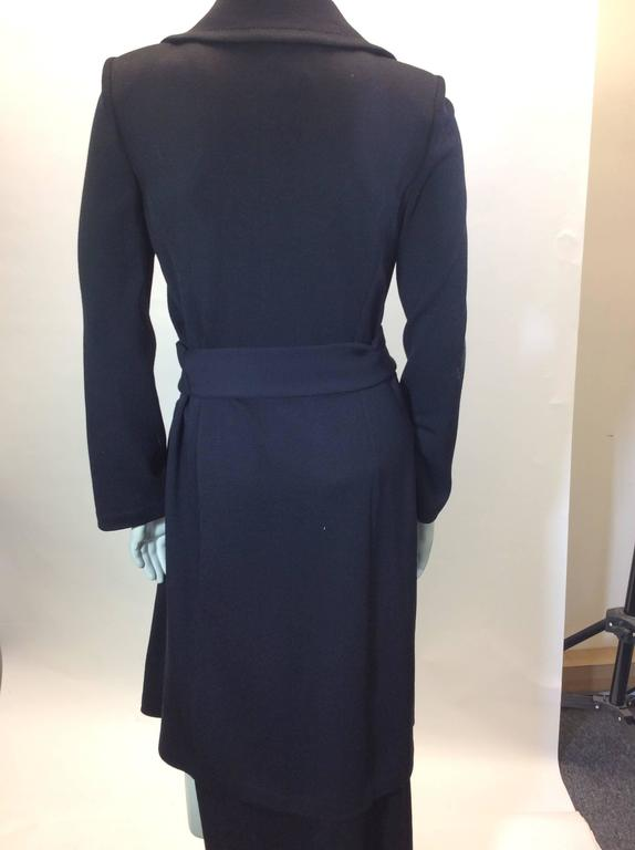 St John Black Knit Skirt set  3