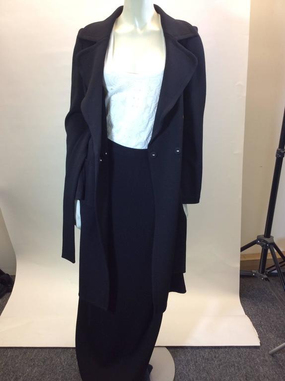 St John Black Knit Skirt set  5