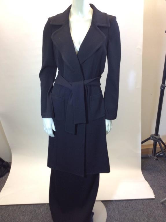 St John Black Knit Skirt set  4