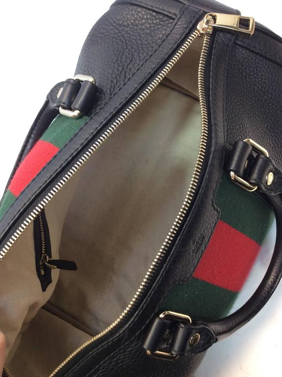 Gucci Black Striped Barrel Bag For Sale At 1stdibs