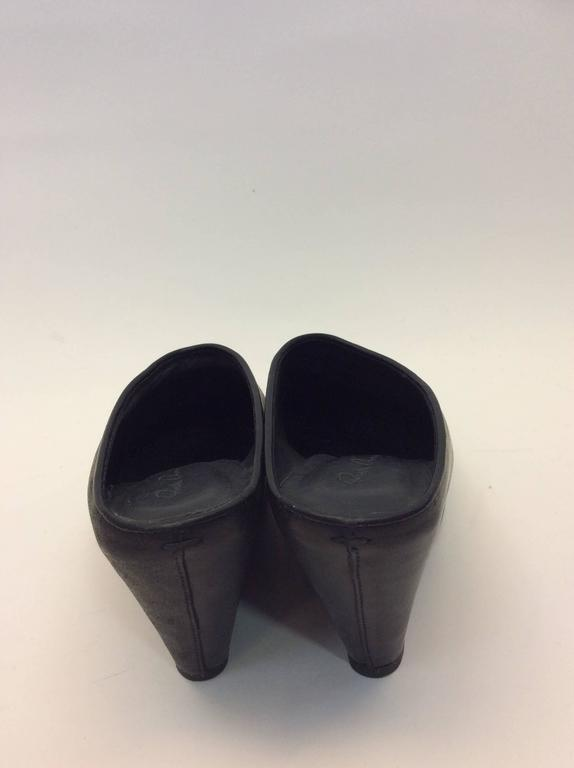 Rick Owens Black Wedge Mules For Sale At 1stdibs