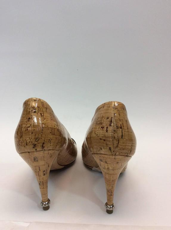 Chanel Cork And Patent Leather Pumps For Sale At 1stdibs
