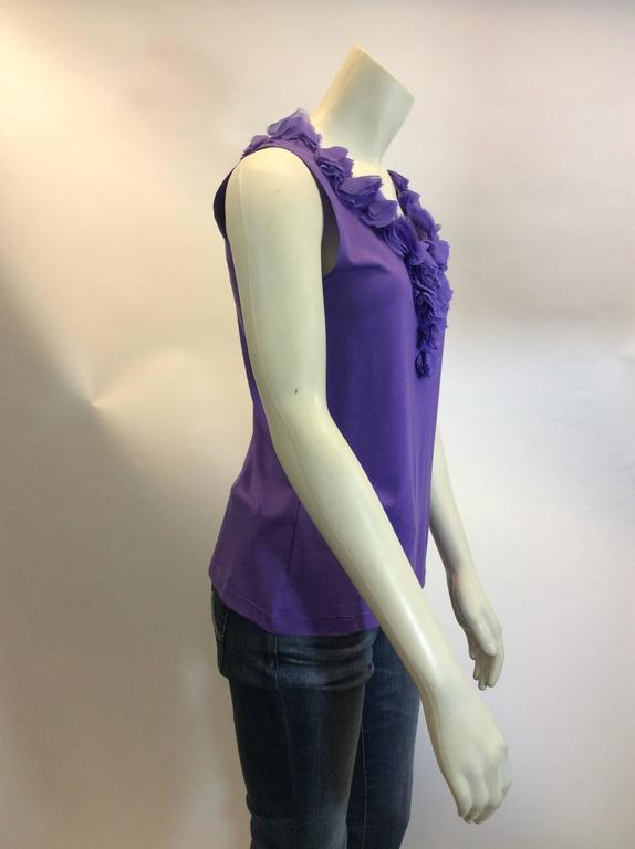 Carolina Herrera Purple Sleeveless Top 5