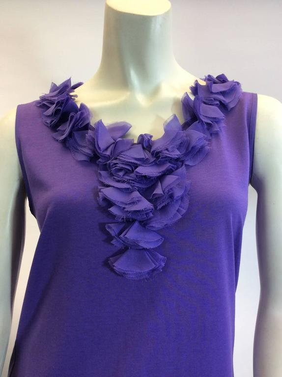 Carolina Herrera Purple Sleeveless Top 2