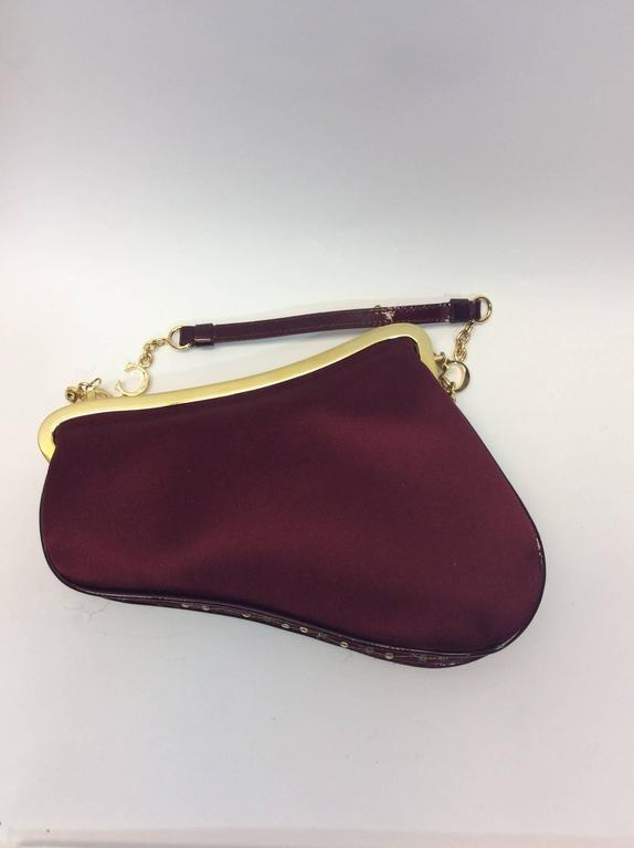 Christian Dior Burgundy Embellished Small Clutch at 1stdibs