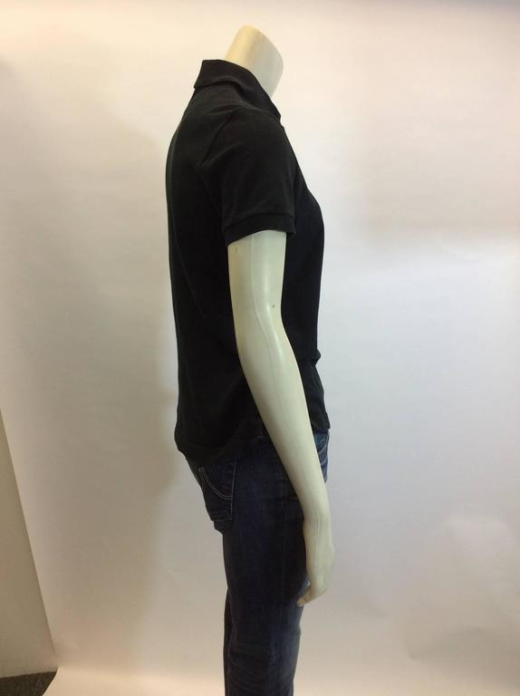 Hermes Black Cotton Polo 100% cotton Made in Italy  $108 Short sleeve