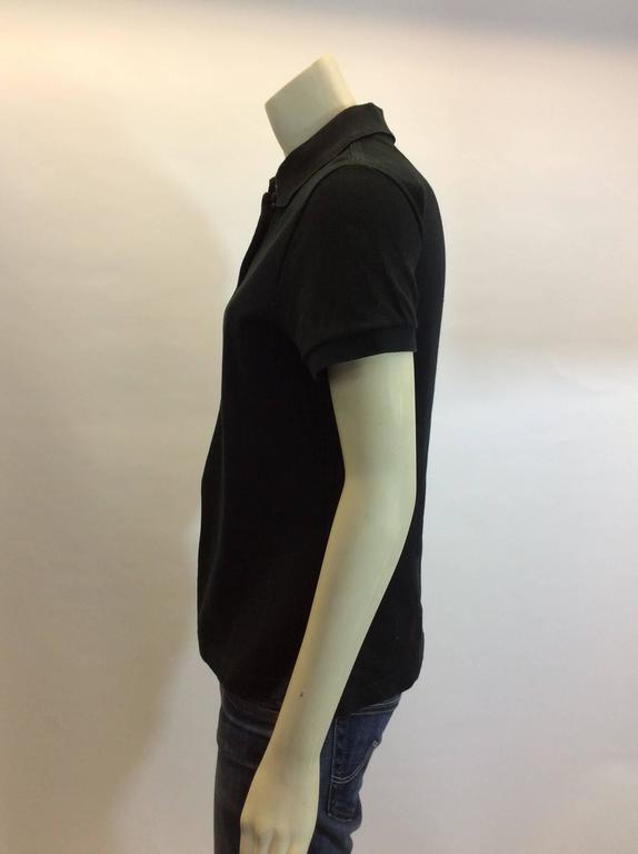 Women's Hermes Black Cotton Polo For Sale
