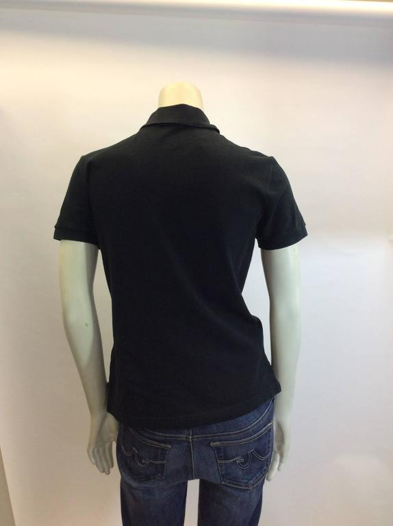 Hermes Black Cotton Polo In Good Condition For Sale In Narberth, PA