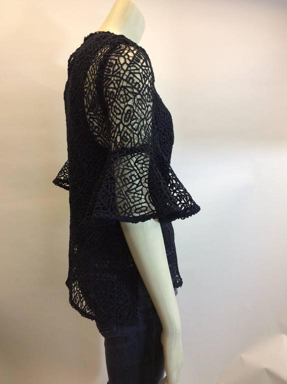 Sad Tumblr Quotes About Love: Prose And Poetry NWT High Low Lace Navy Top At 1stdibs