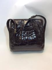 Judith Leiber Snake Skin Shoulder Bag With Crossbody Strap