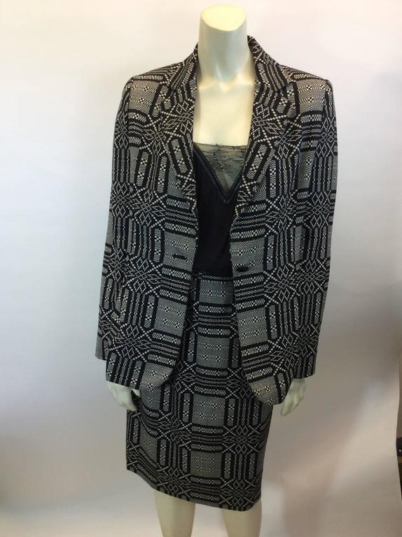 Bill Blass Printed Skirt Suit 2