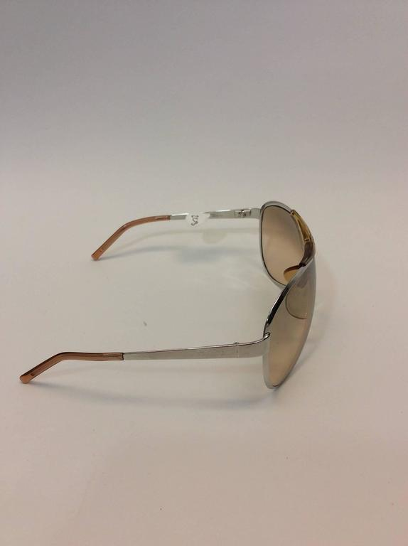 Brown Christian Dior Metal Golden Sunglasses For Sale