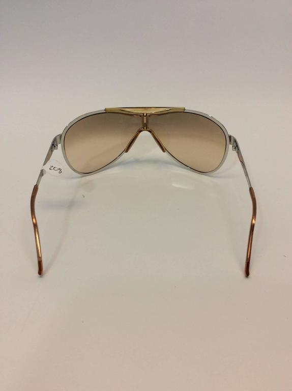 Christian Dior Metal Golden Sunglasses In Excellent Condition For Sale In Narberth, PA