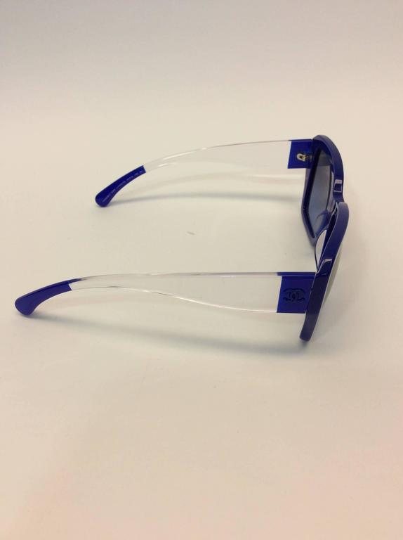 Chanel Blue Logo Sunglasses 3