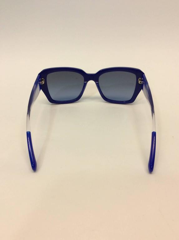 Chanel Blue Logo Sunglasses 4