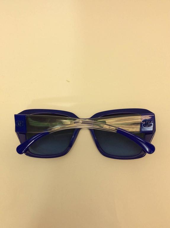 Chanel Blue Logo Sunglasses 5