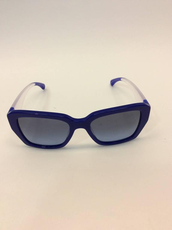 Chanel Blue Logo Sunglasses 2