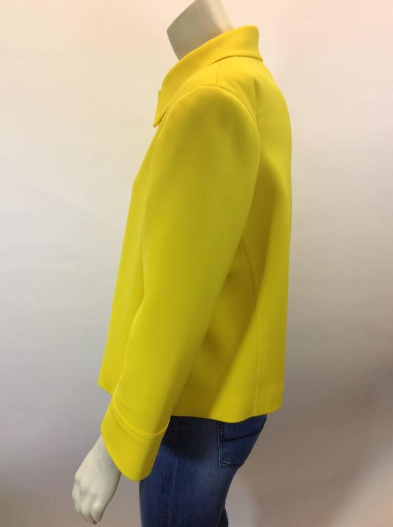 Ralph Lauren Cropped Bright Yellow Jacket 4