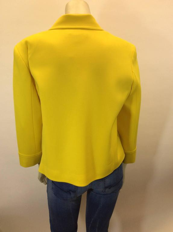 Ralph Lauren Cropped Bright Yellow Jacket 5