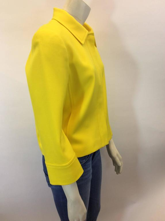 Ralph Lauren Cropped Bright Yellow Jacket 6