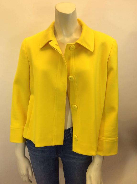 Ralph Lauren Cropped Bright Yellow Jacket 2