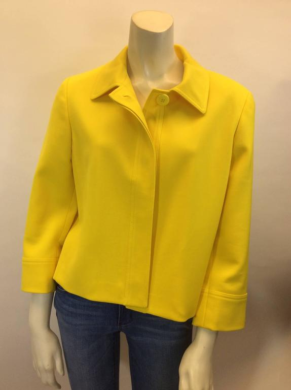 Ralph Lauren Cropped Bright Yellow Jacket 3