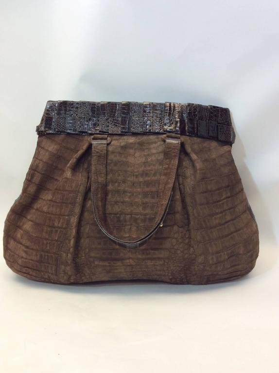 Black Nancy Gonzalez Genuine Crocodile Purse For Sale