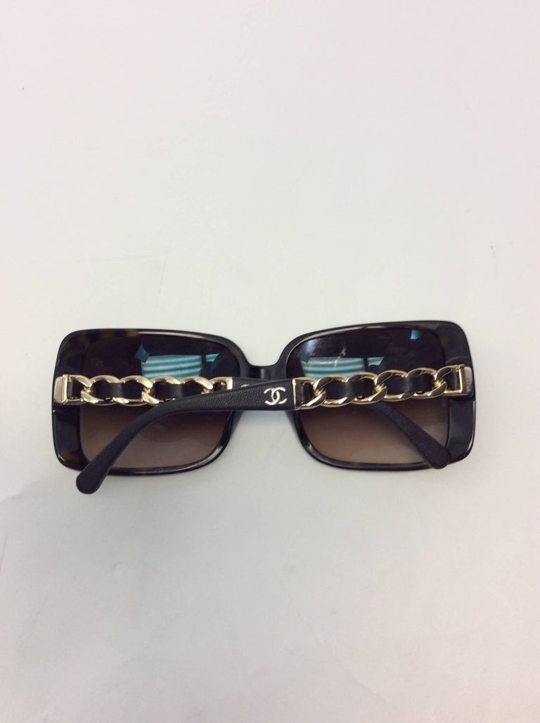2b4d178849416 Chanel Square Sunglasses Brown