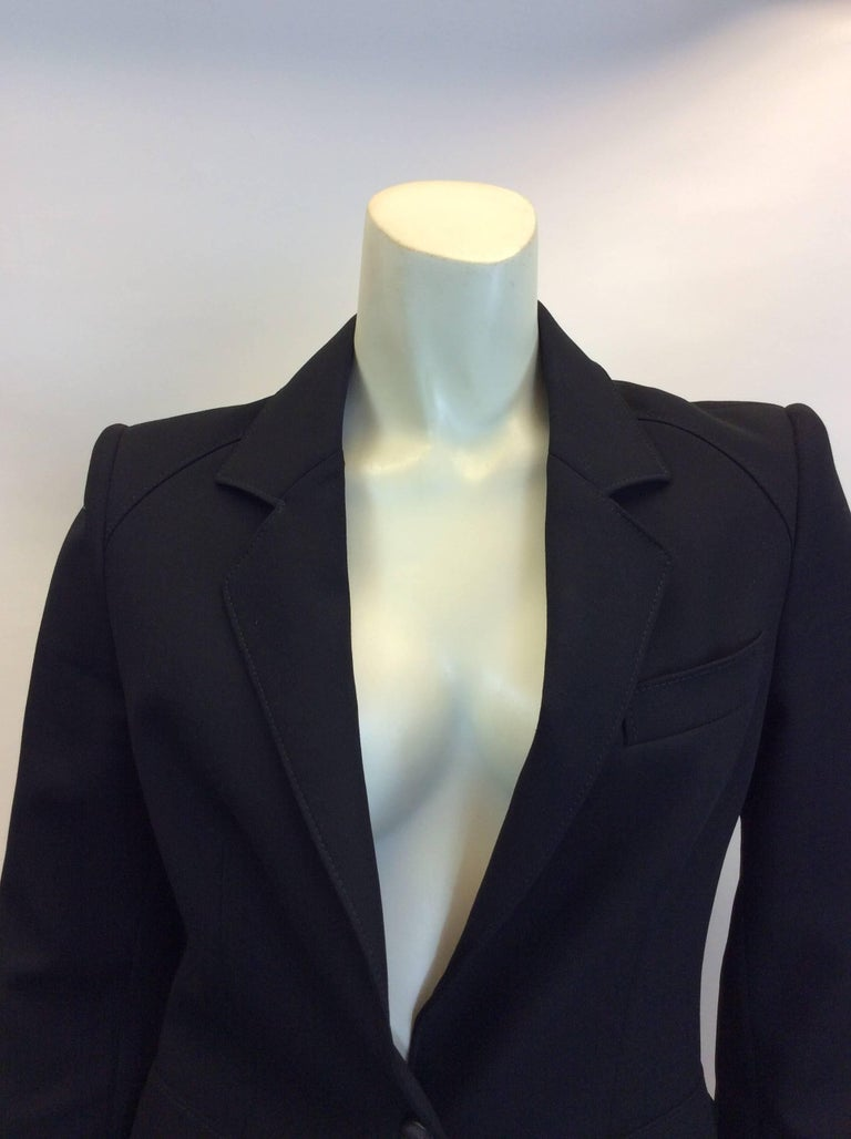 Balenciaga Black Blazer Made in Italy  $265 Size 38 Fully lined