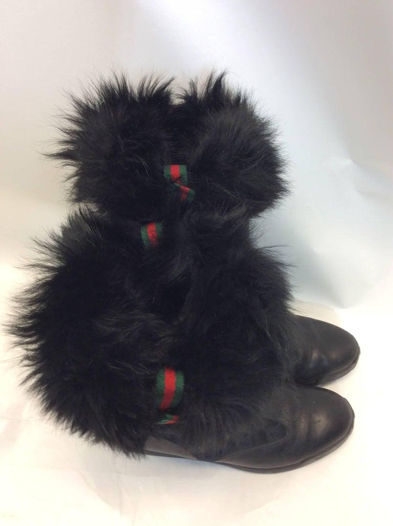 c4f4037b811 Gucci Black Fur Boots For Sale at 1stdibs. Gucci Gucci black guccissima  leather ...
