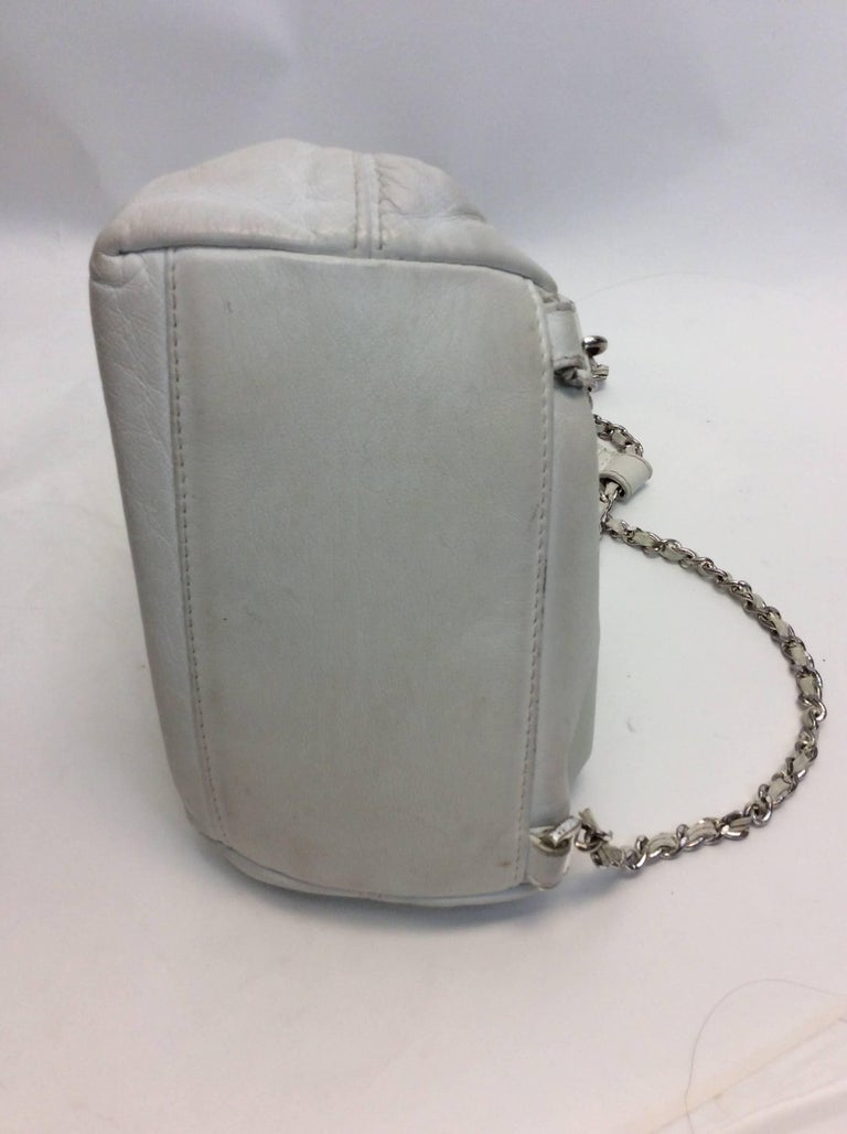 Chanel White Small Vintage Backpack For Sale 1
