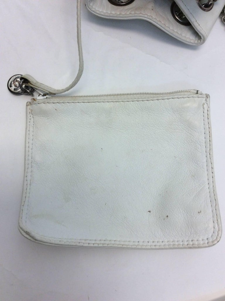 Chanel White Small Vintage Backpack For Sale 3