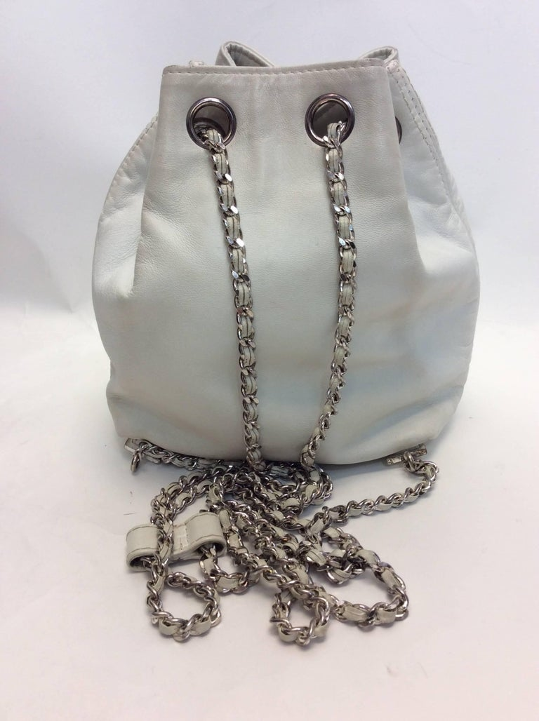 Women's Chanel White Small Vintage Backpack For Sale