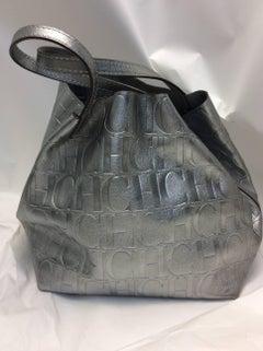 Carolina Herrera New Silver Metallic Tote