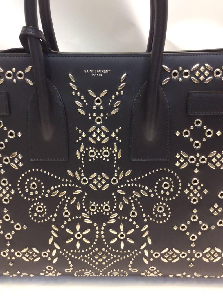 Yves Saint Laurent Bandana Studded Sac De Jour Leather Bag 5