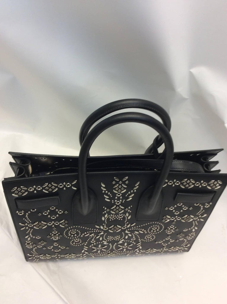 Yves Saint Laurent Bandana Studded Sac De Jour Leather Bag 4