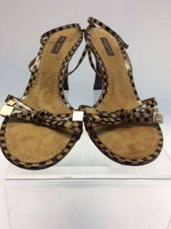 Louis Vuitton Brown and Tan Strappy Sandal