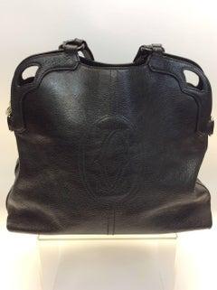 Cartier Black Leather Marcello Large Handbag