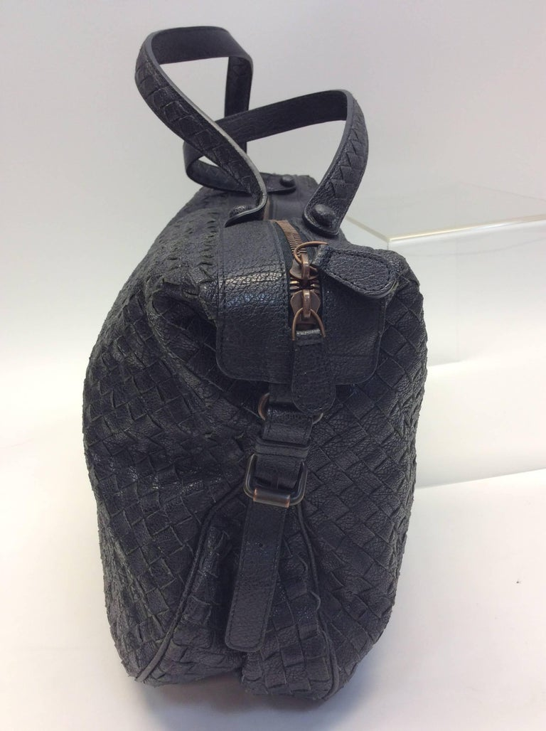 Bottega Veneta Black Woven East West Leather Tote $1399 Made in Italy Leather 19
