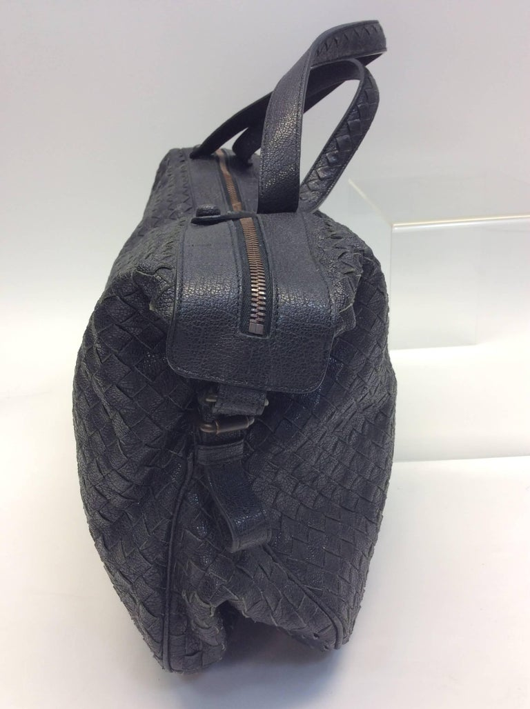Women's Bottega Veneta Black Woven East West Leather Tote For Sale