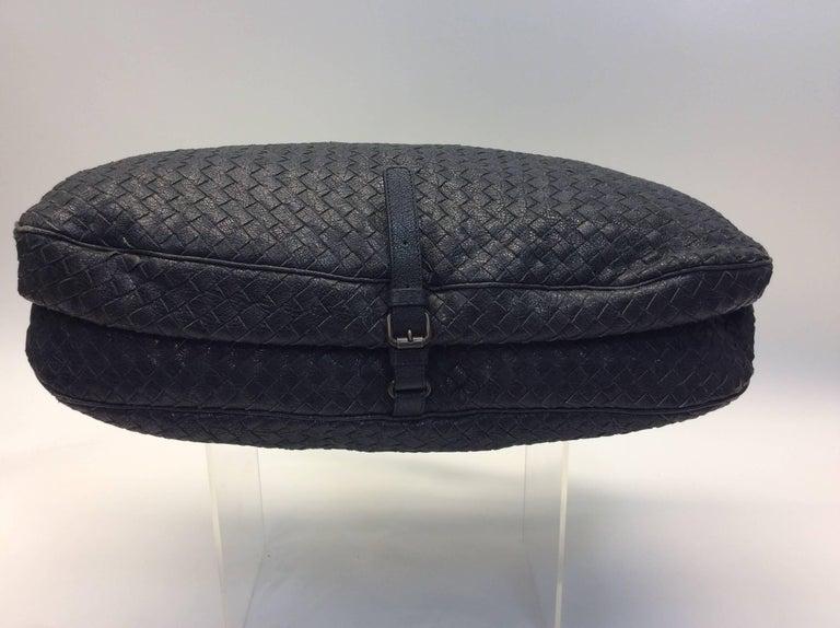 Bottega Veneta Black Woven East West Leather Tote For Sale 1