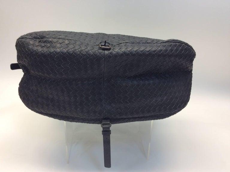 Bottega Veneta Black Woven East West Leather Tote For Sale 2
