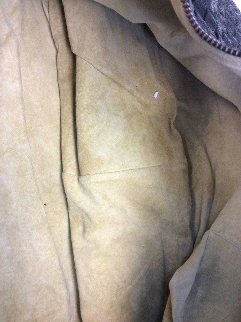 Bottega Veneta Black Woven East West Leather Tote For Sale 4