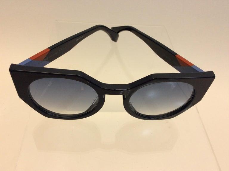 Fendi Navy Blue Sunglasses For Sale 2