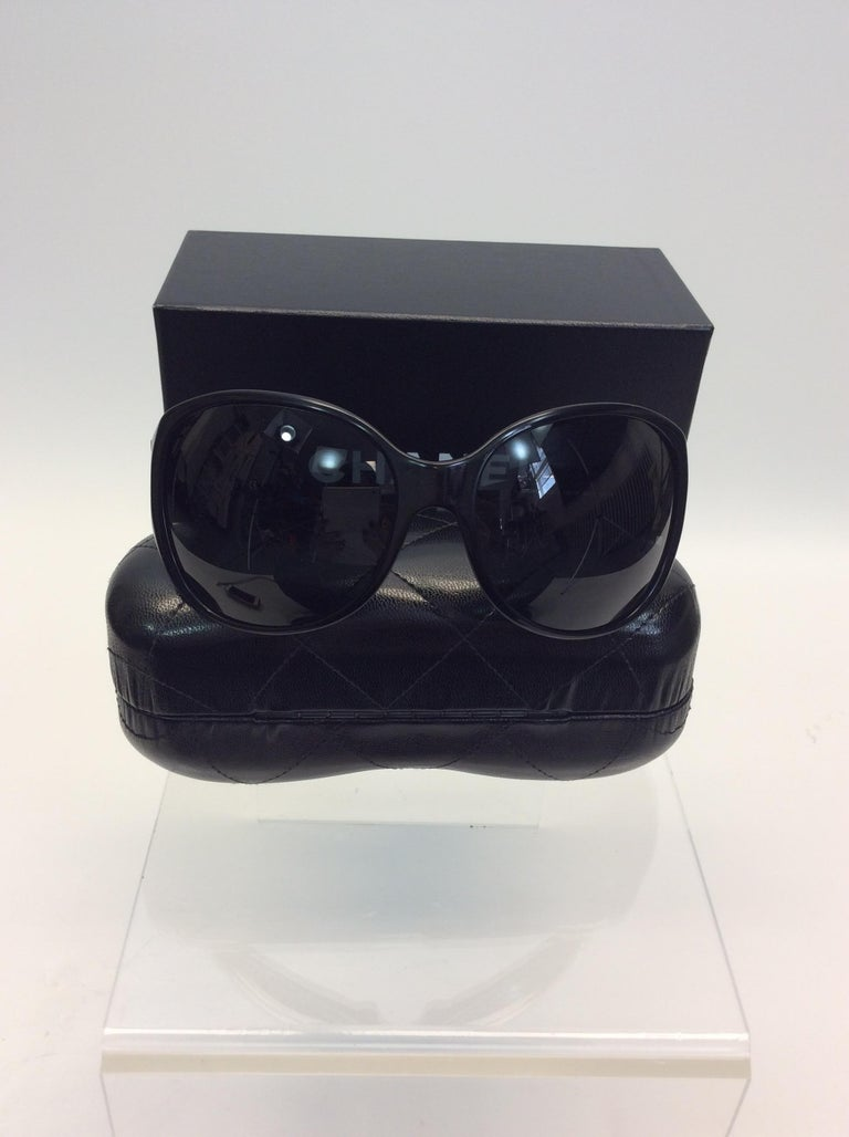 Chanel Black Studded Sunglasses For Sale 1