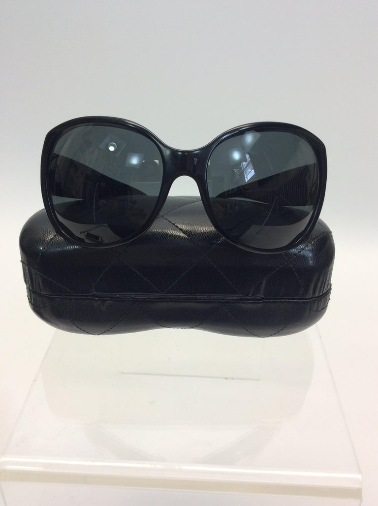 Chanel Black Studded Sunglasses For Sale 3