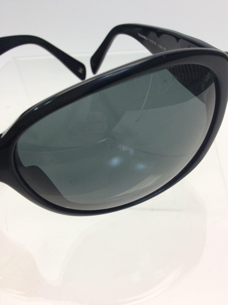 Chanel Black Studded Sunglasses For Sale 4