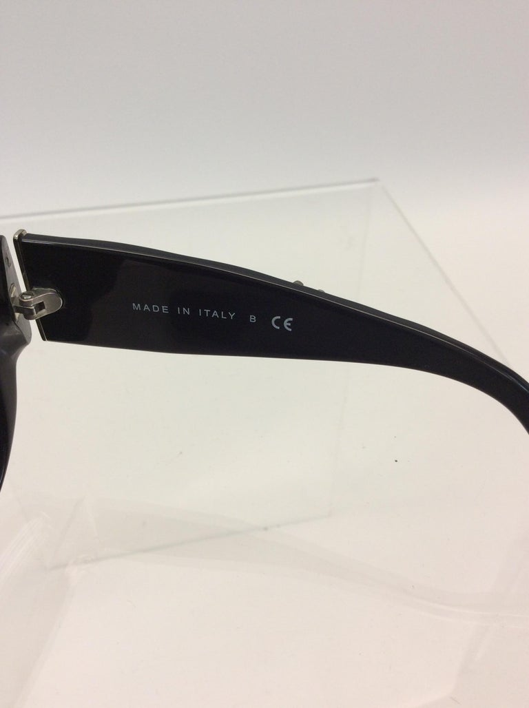 Chanel Black Studded Sunglasses For Sale 5