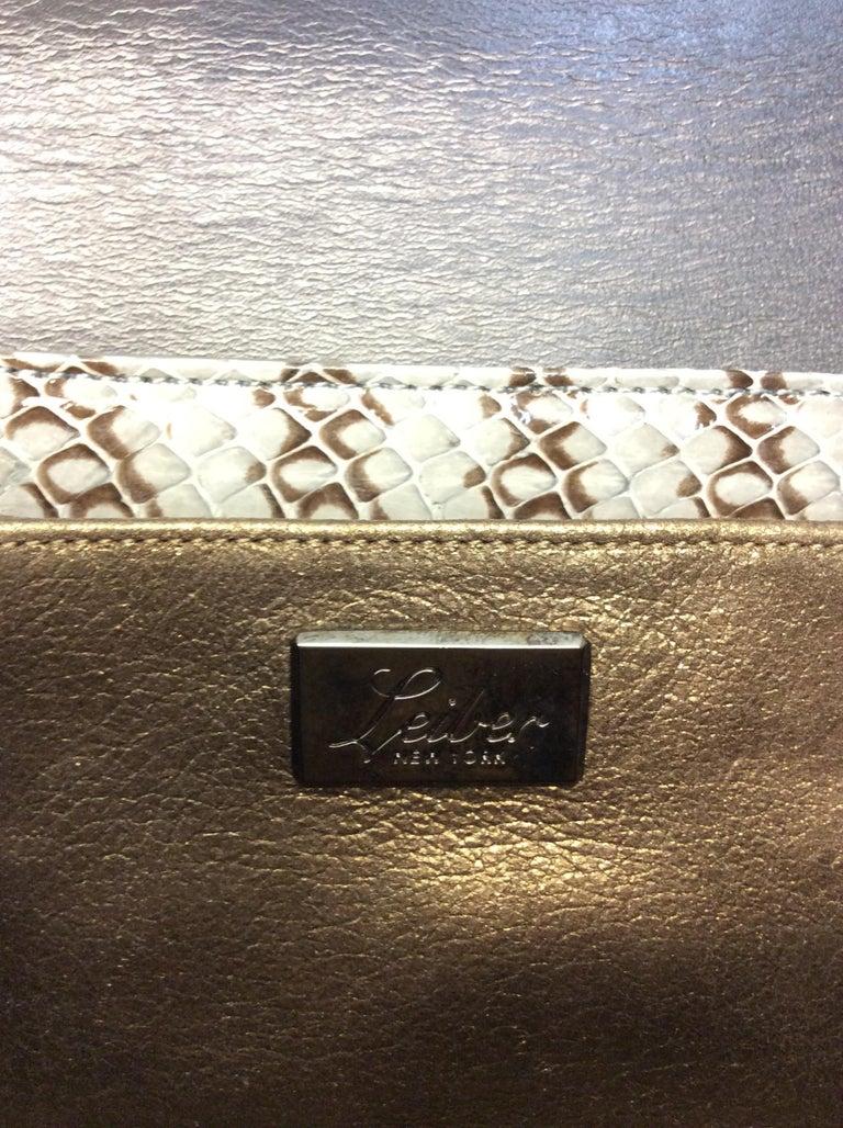 Judith Leiber Grey Snake Skin Clutch NWT For Sale 3