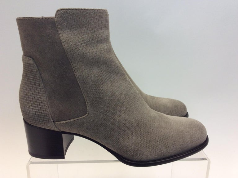6ed09ca9197e9 Aquatalia Tan Suede Ankle Boots In Excellent Condition For Sale In  Narberth